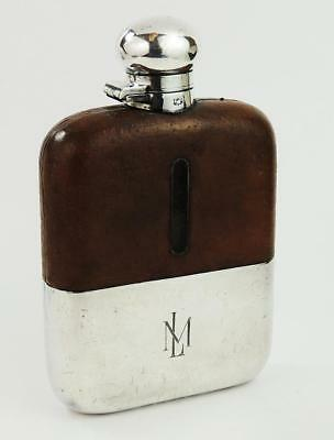JAMES DIXON & SONS Antique SILVER PLATED HIP FLASK c1900