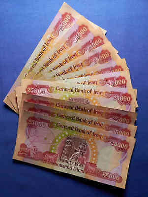 250,000 Iraq 1/4 Million Dinar.10 Notes each 25,000 Notes.Uncirculated Genuine