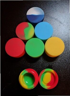 Set of 5 new Silicone Dabs/Wax Containers - 5ml, astd colors - ships from Canada