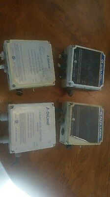 4 used DeLaval Liquid Level control boxes