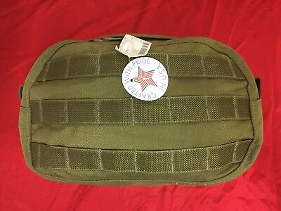 Accessory Front Pouch MOLLE MALICE KHAKI Patriot Performance NWT