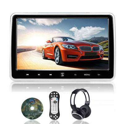 Usual Car Headrest DVD Player LCD Touch Screen USB/SD/FM Rear Seat Games-Using