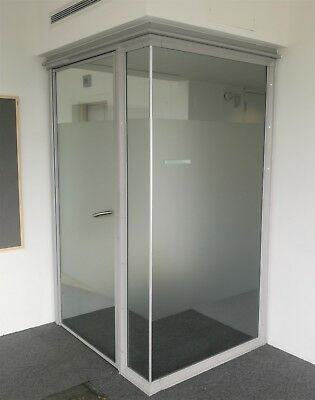 2.51 Metre Wide Toughened Glass Partition System With Glass Door & Frames
