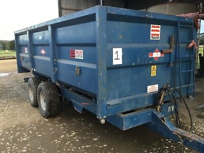 Marston AS trailer 10 ton roll over sheet grain corn silage very good condition