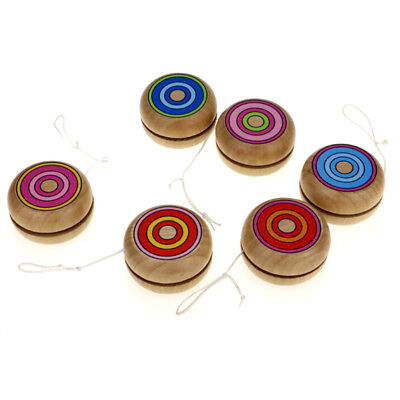 Wooden YOYO kids classic toys xmas gifts party favors kindergarten T*