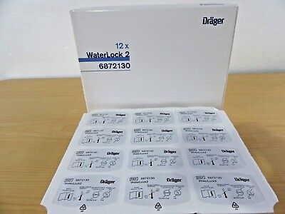 Drager WaterLock2 BOX OF 12 EXP-DATE-2020/12