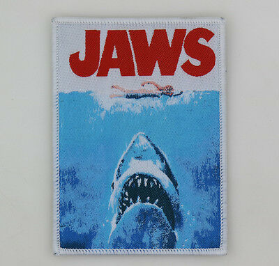 PATCH - JAWS (woven) - Horror movie, Great White Shark, Spielberg