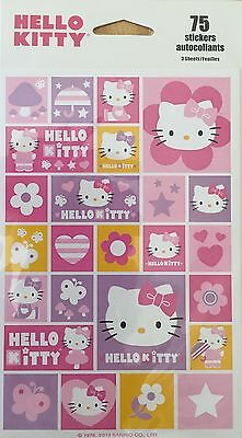 Hello Kitty Stickers (new Sealed Sale) 75 Stickers 3 Sheets Sale Free Ship