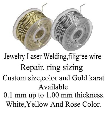 Solid 14k yellow gold wirejewelry repair laser welding 025mm30 solid 14k yellow goldjewelry laser welding repair wire 020mm32 gauge greentooth Choice Image