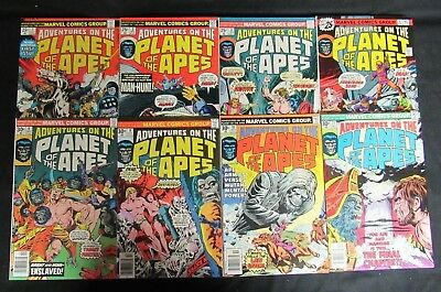 Adventures on the Planet of the Apes Marvel Lot #1, 3, 4, 6, 8, 9, 10, 11 CA746