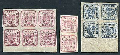 Romania  -   Selection classics in blocks etc. all MH