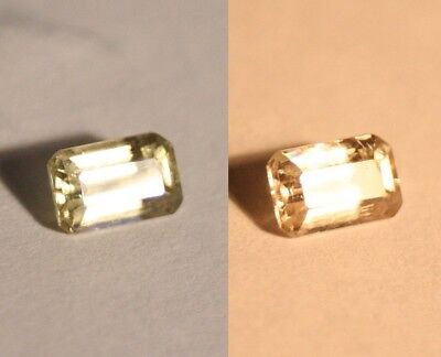 1.28ct Colour Change Diaspore From Turkey - Clean Emerald Cut Gem