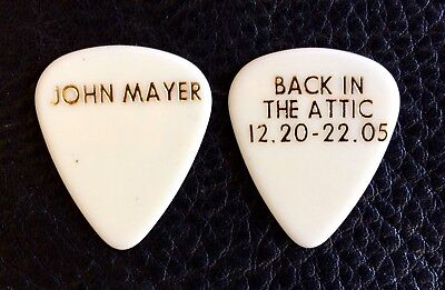 John Mayer Guitar Pick. Back In The Attic 12.20-22.05 . John Mayer. White Pick