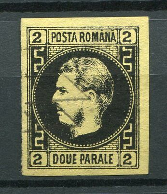 Romania  -   2pa. yellow, cancelled + signed