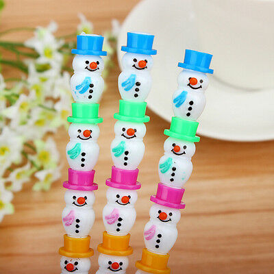 2pcs Style Christmas Cute Snowman Stackable Writing Pencil Set Best Child Sy