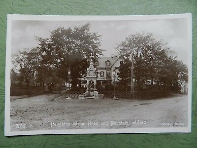 Old Real Photo Postcard - Haughton Arms Hotel & Fountain , Alford , Aberdeen