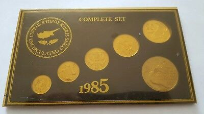 Cyprus coin set 1985