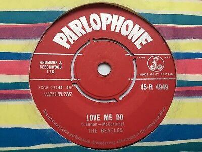 "THE BEATLES ""LOVE ME DO"" 1962 UK PARLOPHONE 1st PRESS EX/EX"