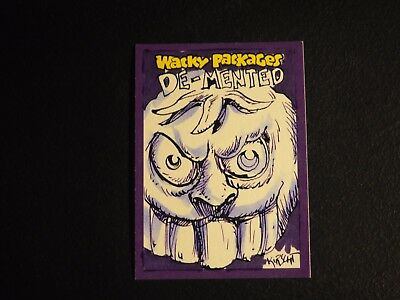 2014 Topps Wacky Packages Matthew Kirscht Hand Drawn AUTO Sketch #1/1 NMMT