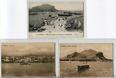 ---QC47 shipping PALERMO HARBOUR different ships X 3---