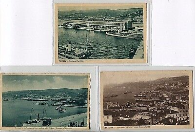 ---QC48 shipping TRIESTE HARBOUR different ships X 3---