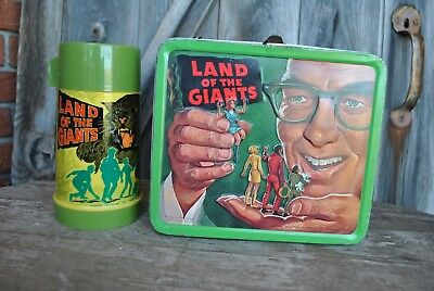 Land Of The Giants Lunchbox Thermos Kit Rare 1968 Aladdin Vintage