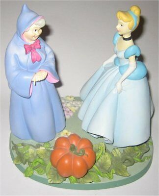 Disney Parks Animated Classics Cinderella & Fairy Godmother Rare Statue Figure