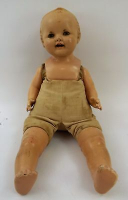 """Effanbee Lovums 18"""" Doll Vintage Composition Cloth 1283558 OPEN AND CLOSE EYES"""