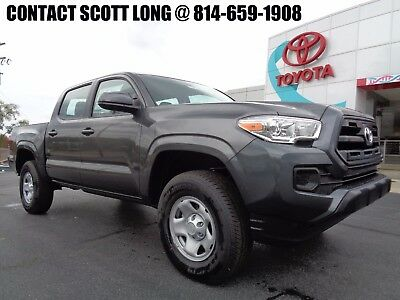 2017 Toyota Tacoma 2017 Double Cab 4x4 3.5L Gray SR 4WD New 2017 Tacoma Double Cab 4x4 SR Rear Camera V6 Tow Package 4WD Magnetic Gray
