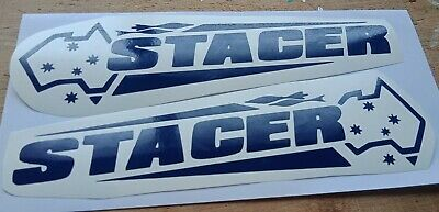 STACER BOAT STICKERSx 2 boat car ute trailer fishing CHOOSE YOUR COLOR