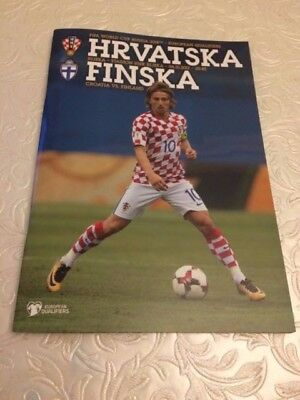 Croatia V Finland- Russia 2018 World Cup Qualifier- 6 October 2017- Programme