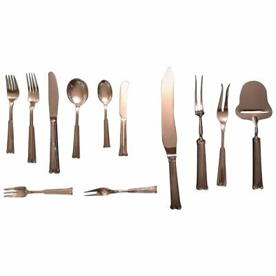 Danish Sterling Silver Flatware Set by Orla Vagn Mogensen