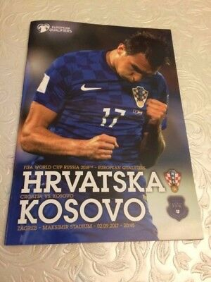 Croatia V Kosovo- Russia 2018 World Cup Qualifier- 2 September 2017- Programme