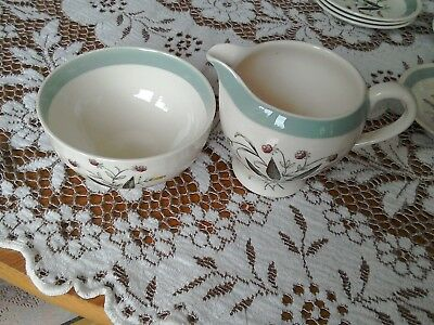 Alfred Meakin milk jug and sugar bowl - Hedgerow