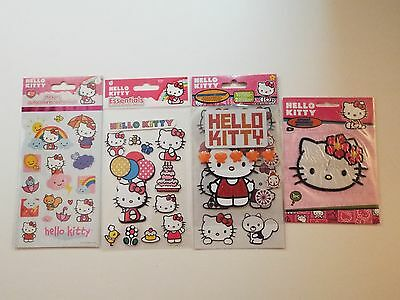 4 NEW-lot-hello kitty stickers & applique-layered decoration medley-sanrio