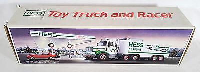 Vintage 1988 Hess Toy Truck and Racer - Mint in Box