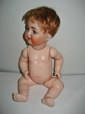 """11"""" ANTIQUE BISQUE HEAD COMPO BODY BABY DOLL K*R  126 Germany Simon & Halbig"""