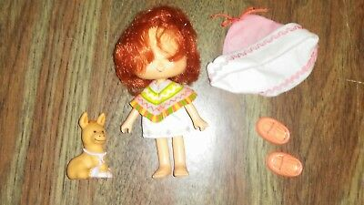Vintage Kenner Strawberry Shortcake doll Cafe Ole & Burrito pet FREE S/H