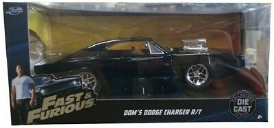 Fast And Furious 1:24 Scale Diecast Metal 1970 Dodge Charger Street R/T Doms