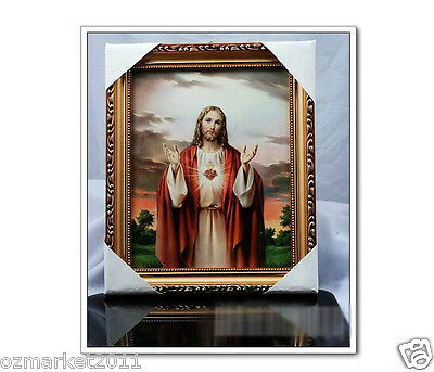Catholic Church Portrait Jesus Christian Blessed Exquisite Frame Home Decoration