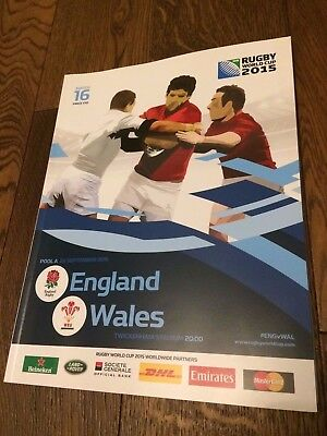 England V Wales- Twickenham-Rugby World Cup 2015- Official Programme