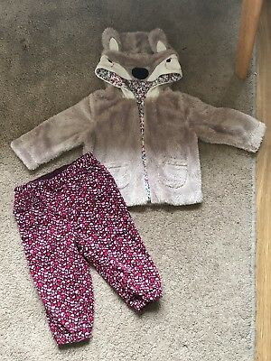 Baby Girls 6-9 Months Coat And Trousers H&M And Mothercare
