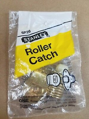 Stanley Adjustable Roller Catch Bright Brass NEW FREE SHIPPING
