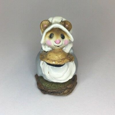 Wee Forest Folk Pilgrim Mouse PRUDENCE PIE MAKER RETIRED 1984 AP M 119