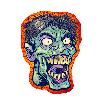 Zombie Novelty Sign | Funny Home Décor Garage Wall Plastic Gag Gift