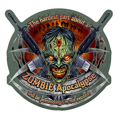 Zombie Apocalypse Novelty Sign | Funny Home Décor Garage Wall Plastic Gag Gift
