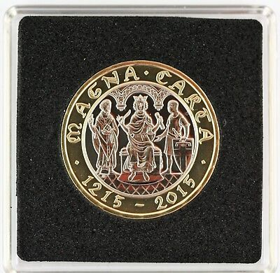 2015 Royal Mint 800th Anniversary of The Magna Carta BUNC £2 Coin square capsule