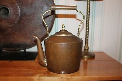 ANTIQUE COPPER & Brass Tea KETTLE,Vintage,Gypsy 'Singing' Traditional Style