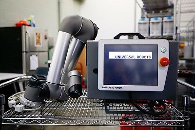 USED Working UR5 Robotic Arm W/ Electronics Box and table