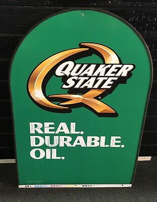 Quaker State Real Durable Motor Oil Service Station Sign Double-sided